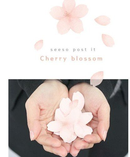 cherry-Blossom-memo-label-sticker-Notepad-