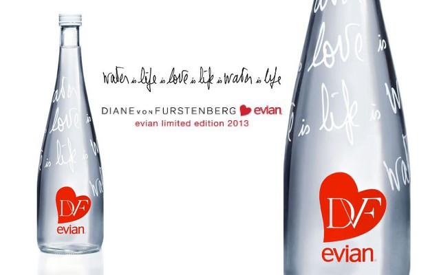 Diane von furstenberg x evian dition limit e framboisemood - Evian bouteille verre ...