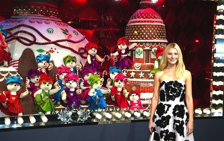 Ev nements gwyneth paltrow inaugure les vitrines de no l au printemps haussmann paris 9e - Magasin le printemps paris ...