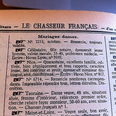 Le chasseur français : 130 ans de coeurs à prendre