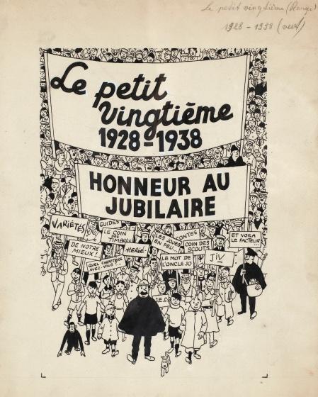 HERGÉ (1907-1983) LE PETIT VINGTIÈME - Estimation  450,000 — 480,000 €
