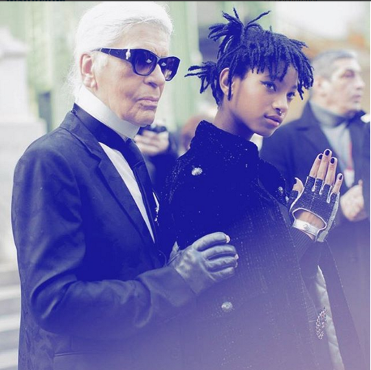Photo compte instagram de Willow Smith - https://www.instagram.com/p/BCsmYzJPNjU/?taken-by=gweelos