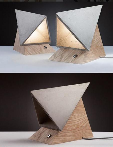 The Monk Concrete Lamp  by SKELD Design.